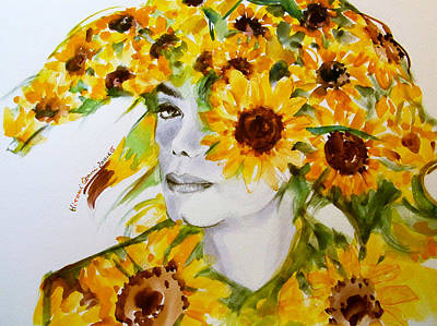 Michael Jackson Painting - Michael Jackson - Sunflower by Hitomi Osanai