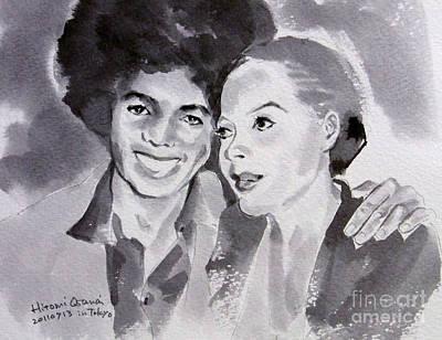 Michael Jackson - Wtih Diana Print by Hitomi Osanai