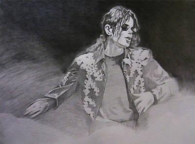 Michael Jackson Drawing - Michael Jackson - You Make Me Feel by Hitomi Osanai