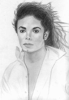 Drawing - Michael Jackson by Pat Moore
