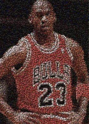 fdff499cc08e Chicago Bulls Royalty Free Images - Michael Jordan Bottle Cap Mosaic  Royalty-Free Image by. Michael Jordan... Paul Van Scott