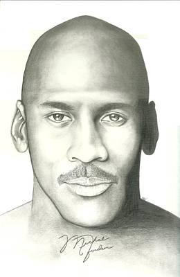 Air Jordan Drawing - Michael Jordan by Scott Williams