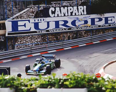 Benetton Wall Art - Photograph - Michael Schumacher After Winning Monaco Gp  by John Bowers
