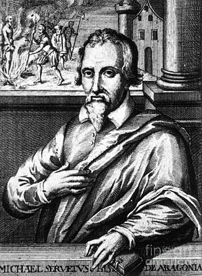 Miguel Drawings Photograph - Michael Servetus, Spanish Polymath by Science Source