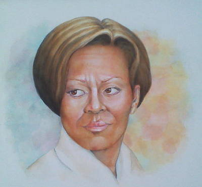 Michele Obama Painting - Michele Obama by Nasko Dimov