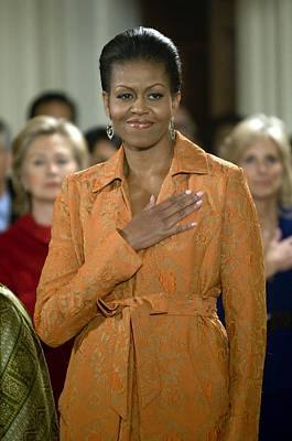 Michelle Obama Photograph - Michelle Obama At A Public Appearance by Everett