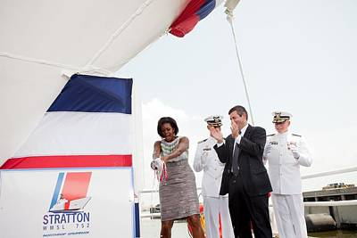 Michelle Obama Photograph - Michelle Obama Christens The Us Coast by Everett