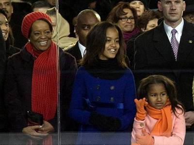 Obama Family Photograph - Michelle Obamas Mother Marian Shields by Everett