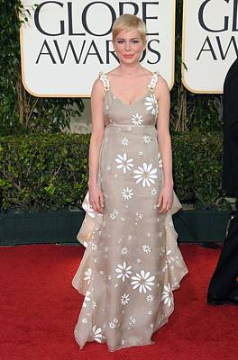 Empire Waist Photograph - Michelle Williams Wearing A Valentino by Everett