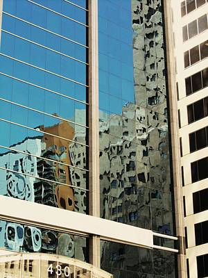 Photograph - Michigan Ave. Reflection by Todd Sherlock