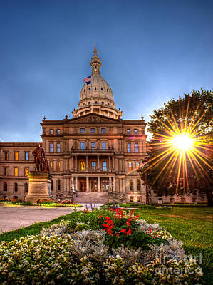 Photograph - Michigan Capitol - Hdr - 2 by Larry Carr