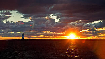 Art Print featuring the photograph Michigan Sunset by Randall  Cogle