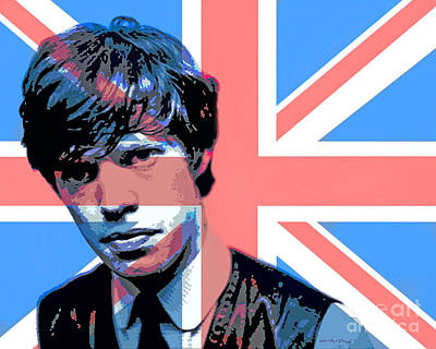 Rolling Stones Wall Art - Painting - Mick Jagger Carnaby Street by David Lloyd Glover