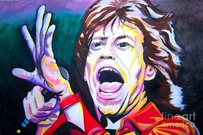 Mick Jagger Art Print by Ken Huber
