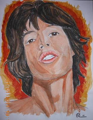 Mick Print by Joseph Papale