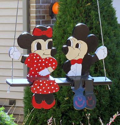 Photograph - Mickey And Minnie Mouse by Kay Novy