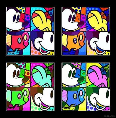 Photograph - Mickey In Colors by Rob Hans
