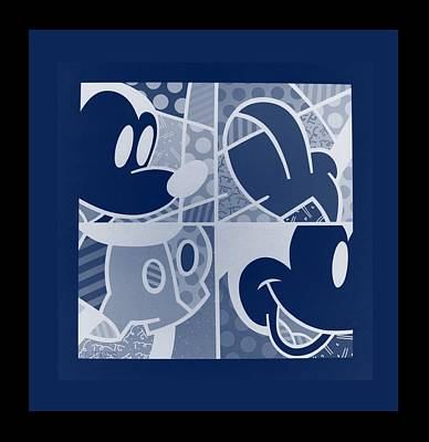 Photograph - Mickey In Negative Deep  Blue by Rob Hans