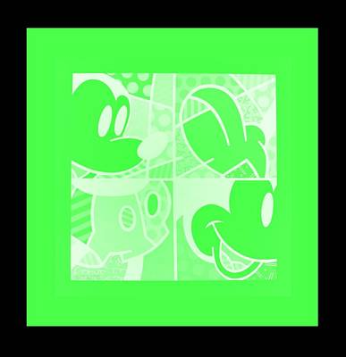 Royalty-Free and Rights-Managed Images - MICKEY in NEGATIVE LIGHT GREEN by Rob Hans