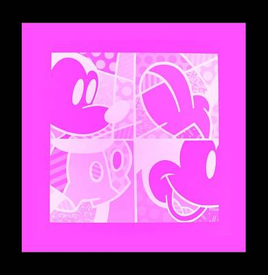 Photograph - Mickey In Negative Pink by Rob Hans