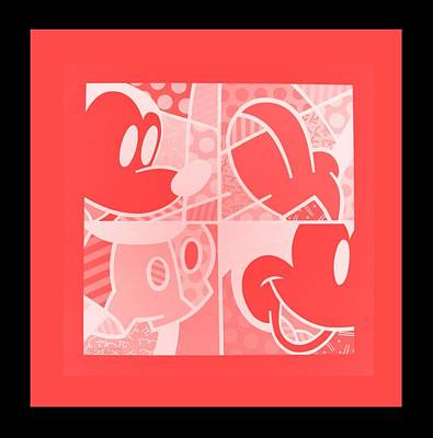 Photograph - Mickey In Negative Red by Rob Hans