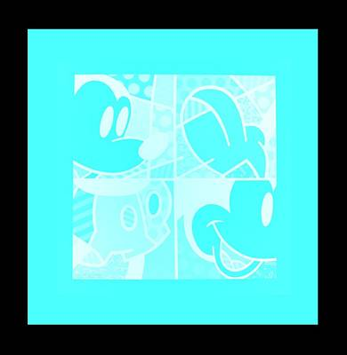 Photograph - Mickey In Negative Turquois by Rob Hans