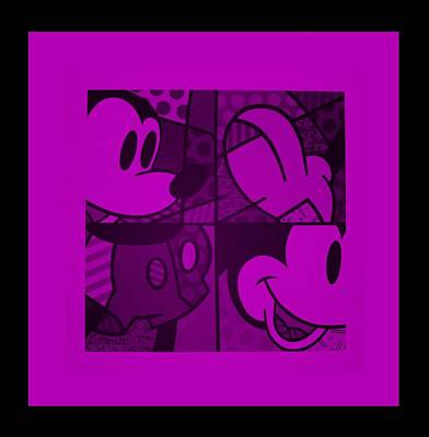 Science Collection Rights Managed Images - MICKEY in PURPLE Royalty-Free Image by Rob Hans