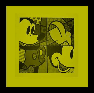Digital Art - Mickey In Yellow by Rob Hans