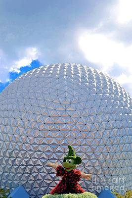 Photograph - Mickey Mouse And The Big Golf Ball by Bonnie Myszka