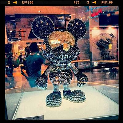 Case Photograph - #mickey #mouse #black #gold #decoration by Bryan Thien
