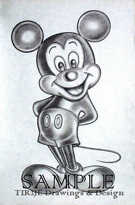 Album Covers Drawing - Mickey by Rick Hill