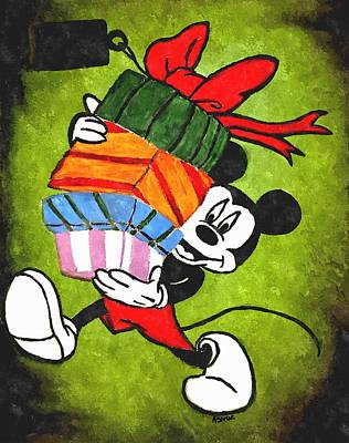 Just Desserts - Mickey with Gifts by Amanda Struz