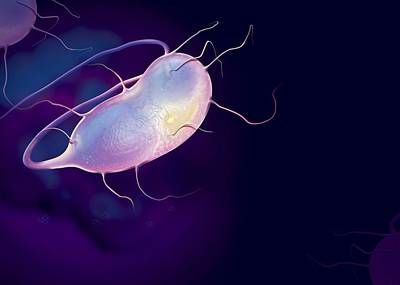 Microbes, Conceptual Artwork Art Print by Claus Lunau