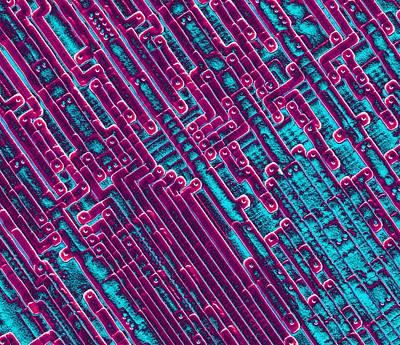 Microchip Circuitry, Sem Art Print