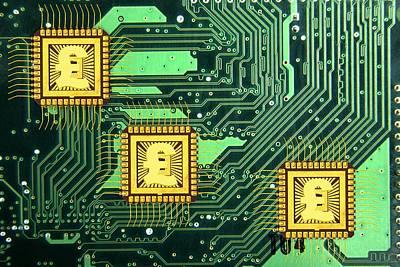 Microchip Sales, Conceptual Image Art Print by Victor De Schwanberg