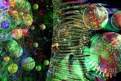 Digital Art - Microscope Dreaming 5 by Russell Kightley