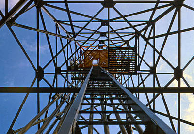 35mm Photograph - Microwave Tower by Chuck Staley