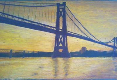 Mid-hudson Bridge Sunrise Art Print by Samuel McMullen