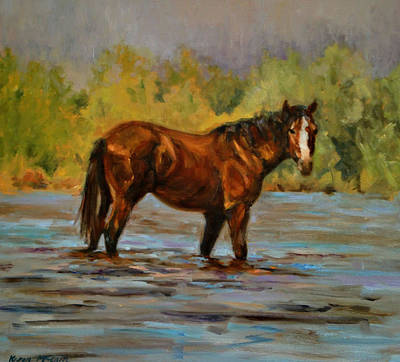 Painting - Mid-stream by Karen McLain