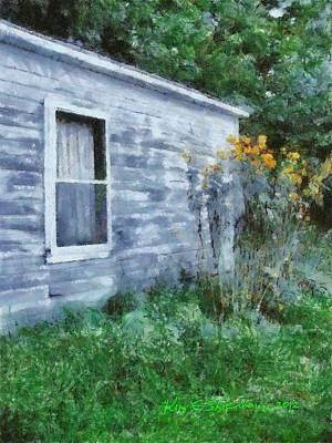 Shed Mixed Media - Mid-summer Hideaway by Kim Ezra Shienbaum