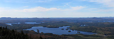 Photograph - Middle And Upper Saranac Lake by Peter DeFina