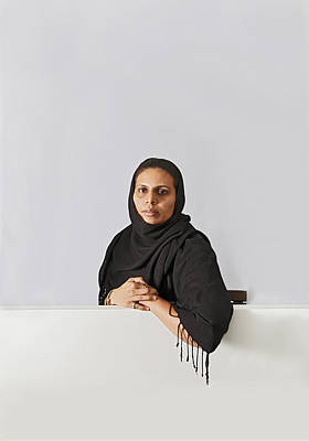 Emotionless Photograph - Middle East Lady With Headscarf by Kantilal Patel