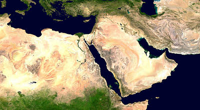 Sudan Red Photograph - Middle East by Nasa