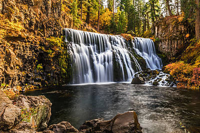Art Print featuring the photograph Middle Falls Mccloud River by Randy Wood