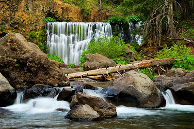 Middle Falls Of The Mccloud River Art Print