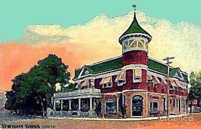 Painting - Midland Park Hotel In Grant City Staten Island N Y In 1908 by Dwight Goss