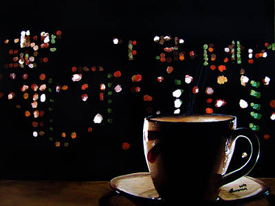 Black Light Paint Painting - Midnight Brew by Kayleigh Semeniuk