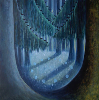 Midnight In The Enchanted Forest Art Print