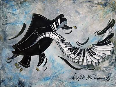 Virgil C Stephens Painting - Midnight Madness by Virgil Stephens