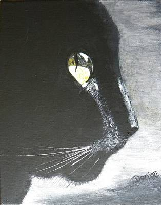 Painting - Midnight Prowler by Denise Hills